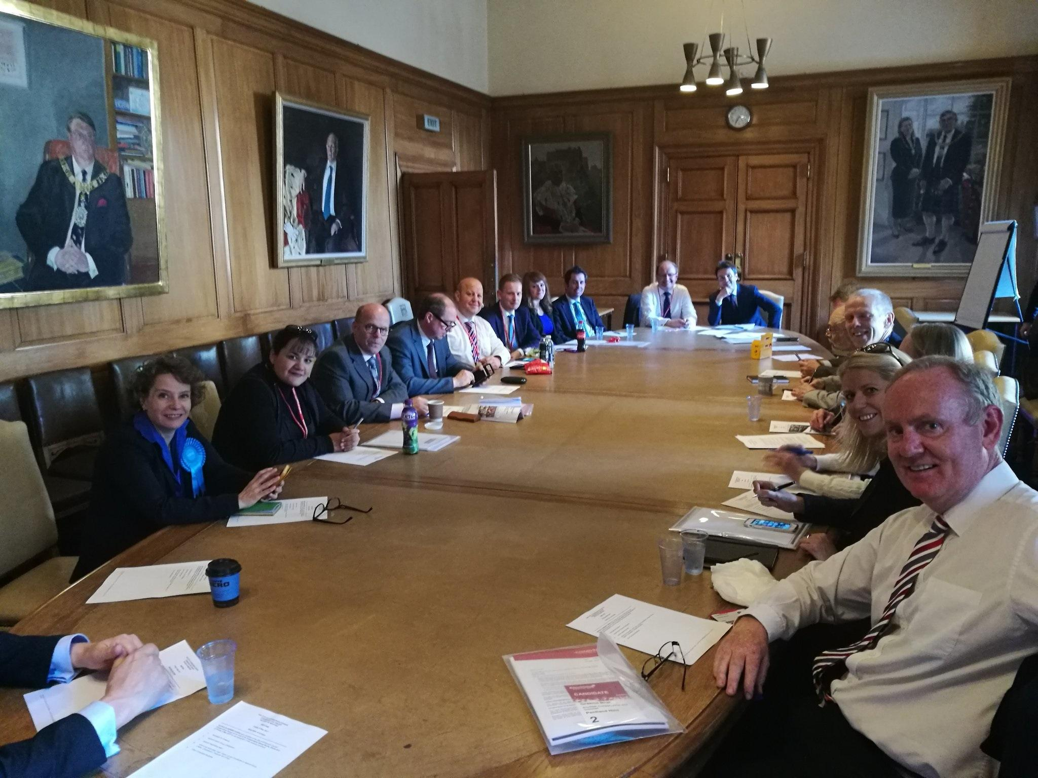 The new Edinburgh Conservative Group meeting for the first time at City Chambers