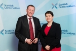 Iain McGill and Ruth Davidson MSP