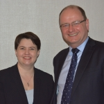 Phil Doggart and Ruth Davidson MSP