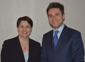 Ruth Davidson and Andrew Johnston